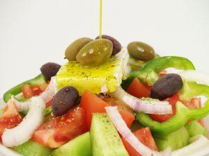 salades olijfolie olijven