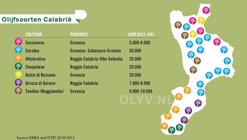 calabrië olijfsoorten